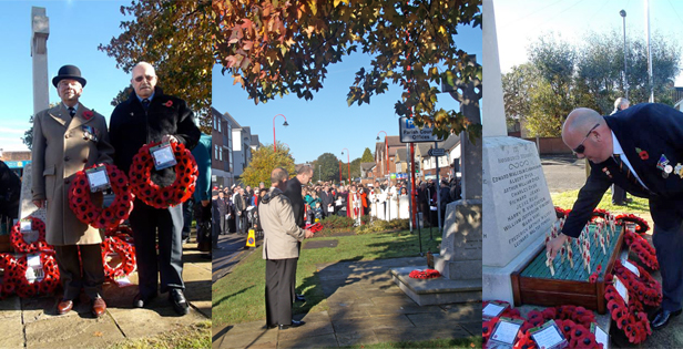 Remembrance Day Service in West Moors