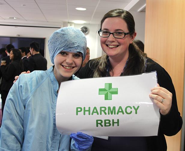 Kids at NHS Careers Day