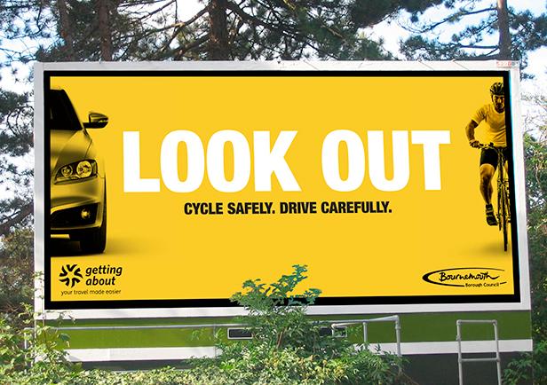 Cycle Safety billboard
