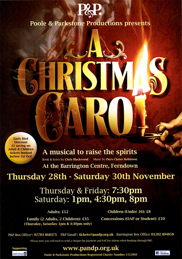 A Christmas Carol event flyer