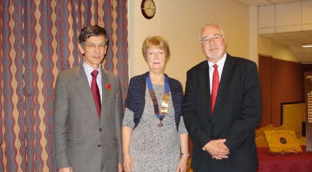 Dr Adrian Rozlovec, club president Diana Marshall, Nick Morgan