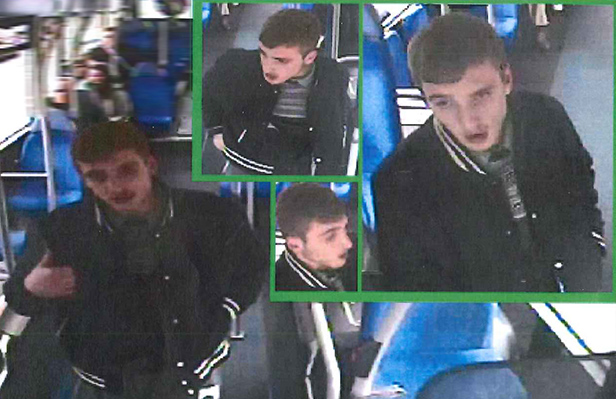 CCTV images of man police are looking for