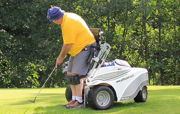 David Thompson is back on the course following his diagnosis of MS with the use of a Paragolfer from Ottobock