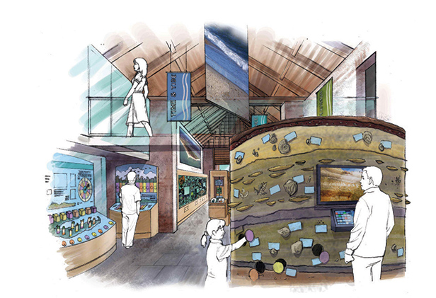 Artist's impression of the interior of the new centre