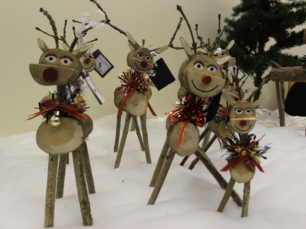 Herd of the wooden reindeer