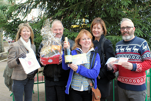Photo (from left) Helen Grey from Davis Tackle, Paul Riley, Jo Dyton from the Hatch Gallery, Ann Simon and Darren Hayward from Scissors. Paul Riley and Ann Simon are from the Christchurch Christmas Festival organising committee