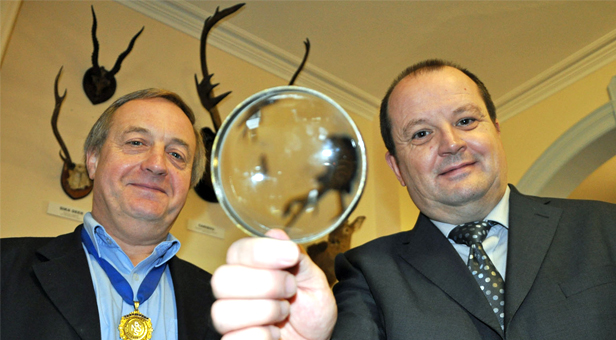 Mark Spencer, BNSS President (left) with Mike Holloway from Wessex Electricals.