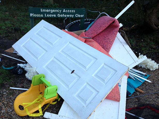 Fly tipping in West Moors