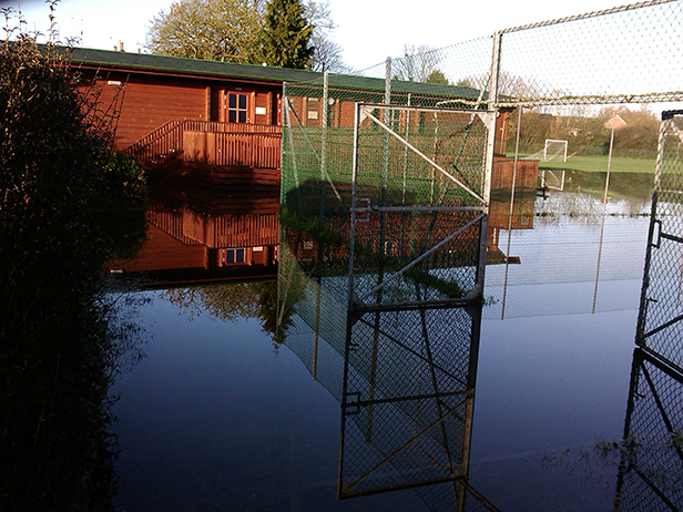 The marooned sports pavilion
