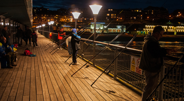 Boscombe Pier Fishing © David Butcher