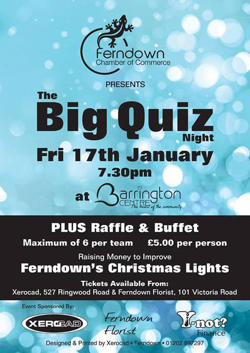 The Big Quiz Night flyer