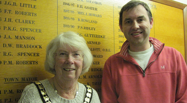 MAYOR OF FERNDOWN CLLR PAULINE REYNOLDS WITH DEPUTY MAYOR CLLR MIKE PARKES AFTER THE ELECTION © mags4dorset 2014