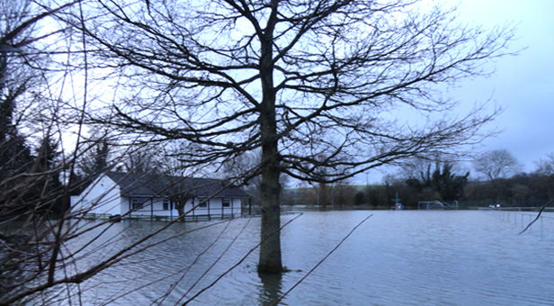 View of flooding at Stourpaine (taken Christmas Eve).