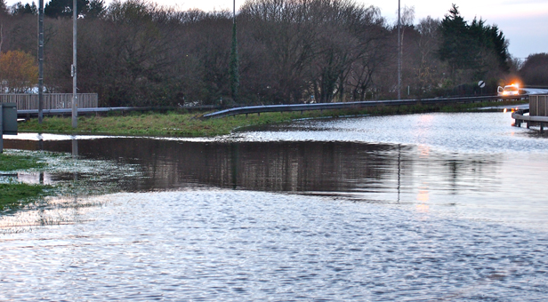 Recent flooding in Ferndown - library picture © mags4dorset