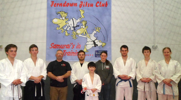 Young Olli with some of his instructors