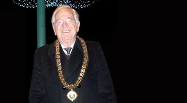 Mayor John Lewis at the Christmas Lights Switch 2013