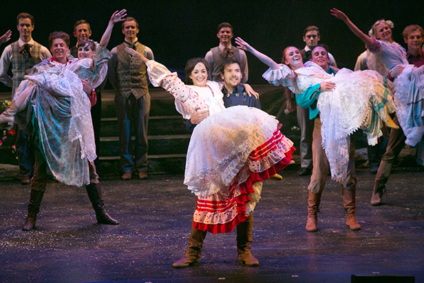 Seven Brides for Seven Brothers performance at the Pavilion Theatre, Bournemouth