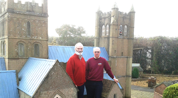 New Year Trustees Stuart Laybourne (left) & Iain Stevenson by the 1/10th scale Minster