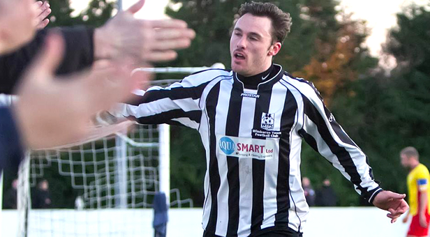 Wimborne hat-trick hero Mark Gamble © Simon Carlton