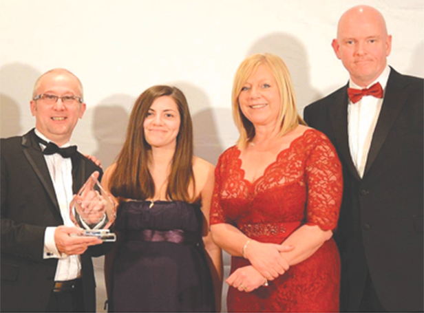 Award presentation by Kevin Byrnes (right), founder of Checkatrade, at Dream Doors Annual Conference December 2013