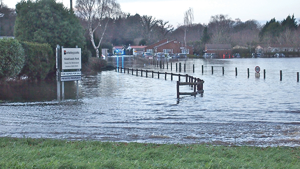 Flooding at Gladelands Park, Ferndown