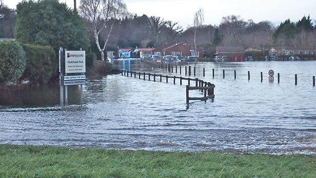 Flooding at Gladelands Park, Ferndown