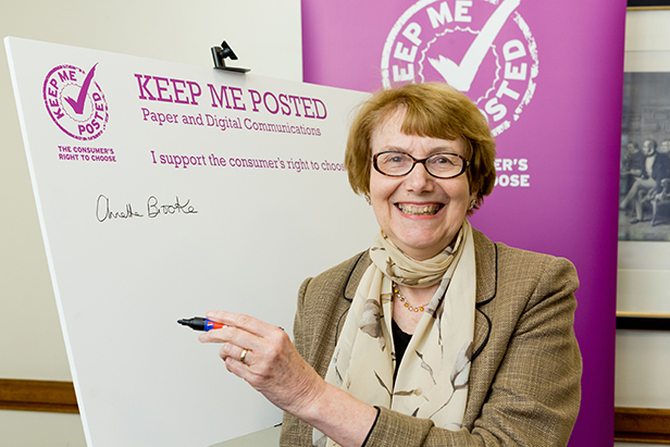 Annette at the Keep Me Posted event in Parliament
