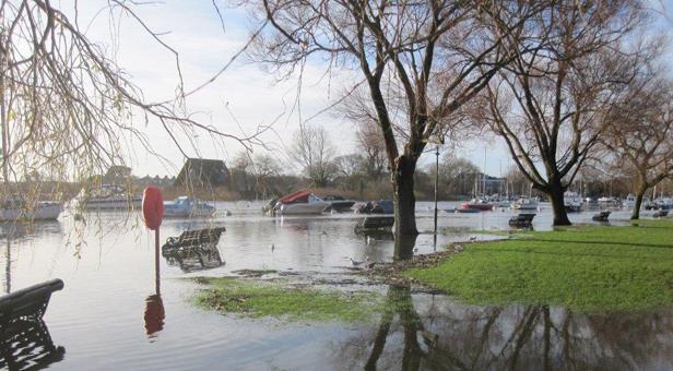 Flooding at Christchurch Quay
