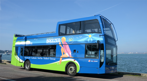 One of the Purbeck Breezer buses.