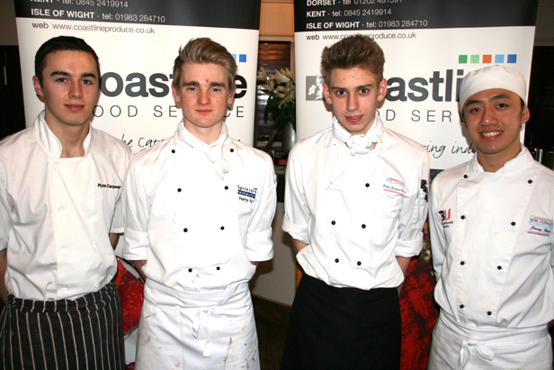 four young chefs