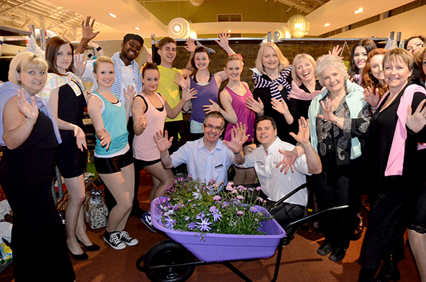 Haskins Simon Morris and Kevin Ramsell with Fashion show models and dancers
