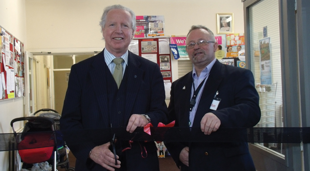 Her Majesty's Lord-Lieutenant of Dorset Mr Angus Campbell with John Hanrahan, Centre Manager