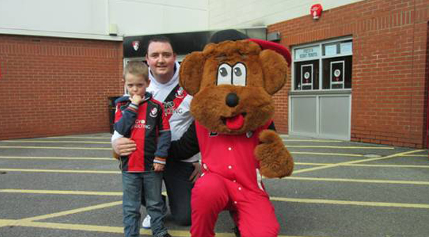Gary and Jack with Cherry Bear