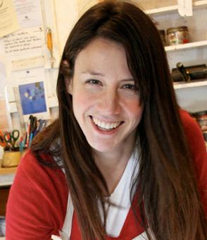 Rachel Bright in her studio © Rachel Bright