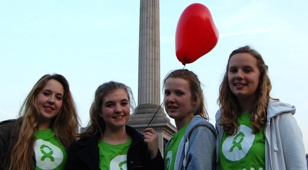From left to right Bronwen Pounds, Lucy Hines, Samantha Kimberley and Millie Wells