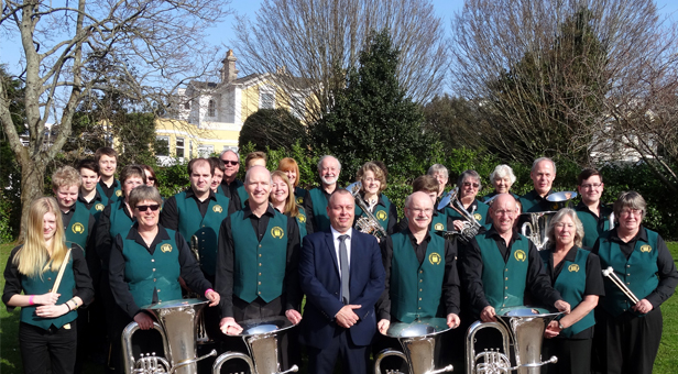 VERWOOD 'B' after being placed 9th in the 4th section of the West of England Brass Band Regional Championship Contest
