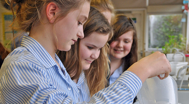 Making a splash: Students at Bournemouth School for Girls take part in the Waterwise education programme.