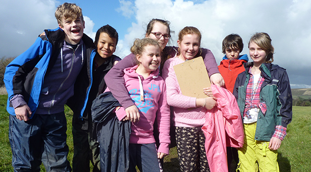 Allenbourn Middle School pupils