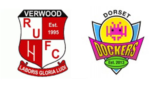 Verwood RUFC and Dorset Dockers RFC logos