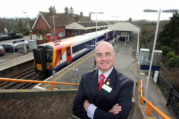 Frank Roberts at Wareham station