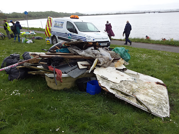 Rubbish collected during the Holes Bay beach clean