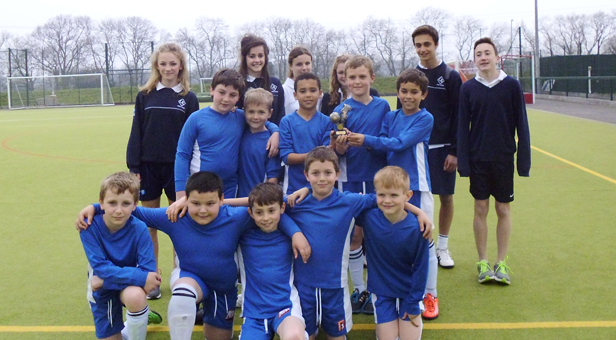 Parley first school's year 4 boys are victorious