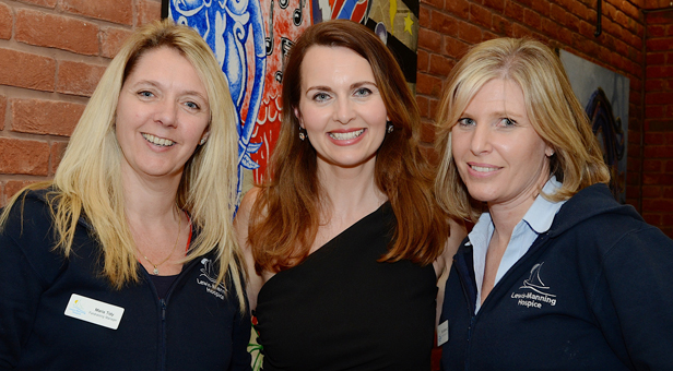 Celebrity host Debra Stephenson, (centre) with Lewis-Manning's Fundraising Manager Maria Tidy (R) and Corporate Fundraiser, Sally Goodenough © SKC Photography