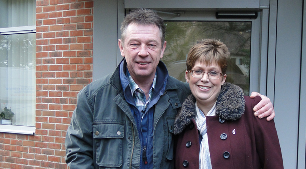 Andy Kershaw with Nikki Hastings