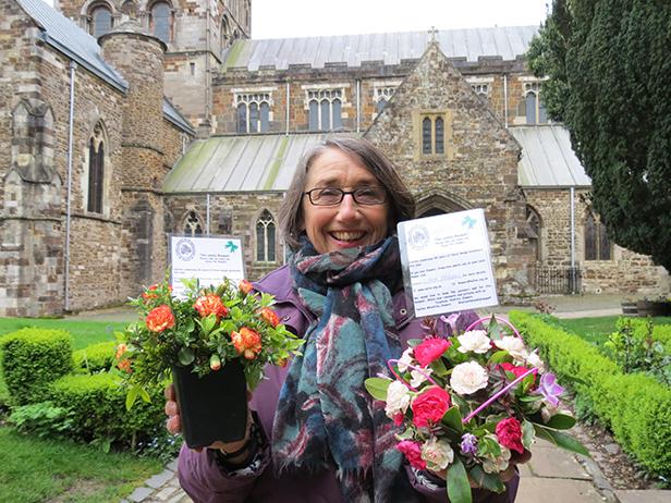 Julia Waterhouse, the Chairman of Colehill Floral Arrangement Club
