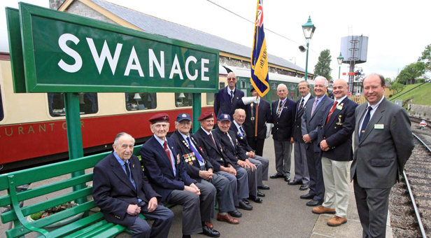 D-Day veterans visit to the Swanage Railway © Andrew P.M. Wright.