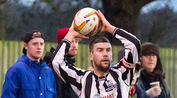 Wimborne Town skipper Scott Arnold who has re-signed for the 2014-15 season. © Simon Carlton
