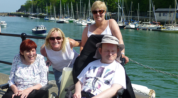 Gill and Andrew visit Weymouth with their support workers