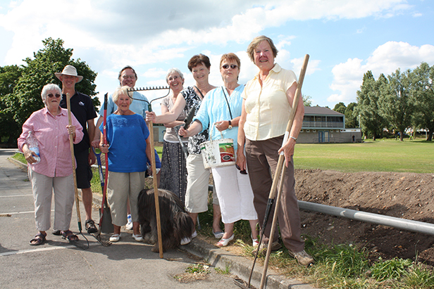 Cllr Le Poidevin with members of the Branksome West Residents' Association