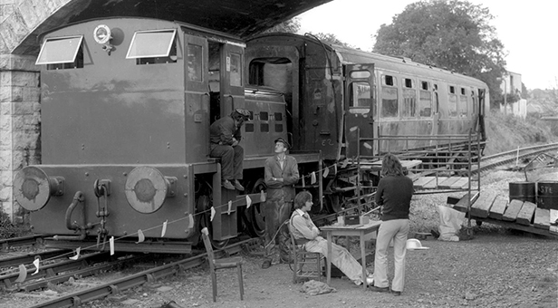 Service train at Swanage August 1979